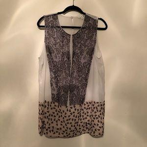 CAbi Tops - CABI Lace Printed Chiffon Blouse